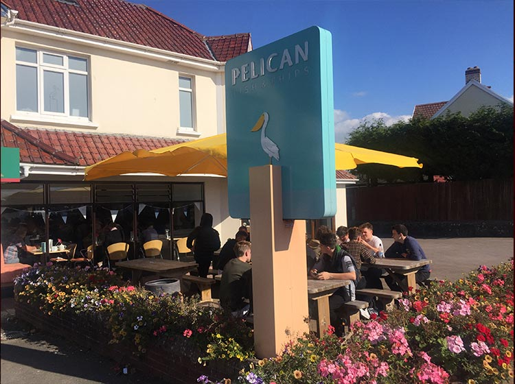 The Pelican fish and chip outside